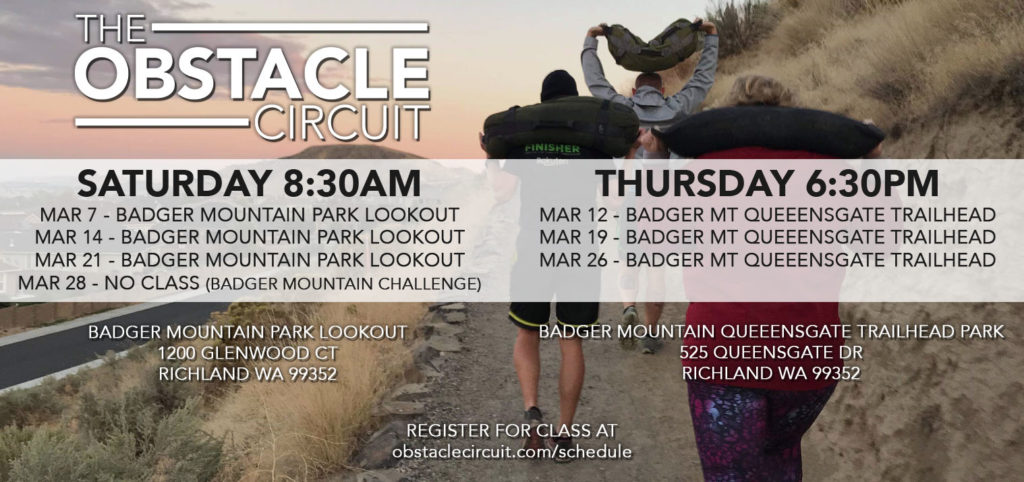 The Obstacle Circuit Class Schedule March 2020